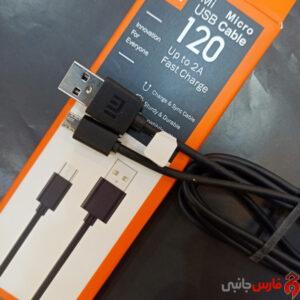 کابل شیائومی 1/2 متر مشکی میکرو یو اس بی Micro USB