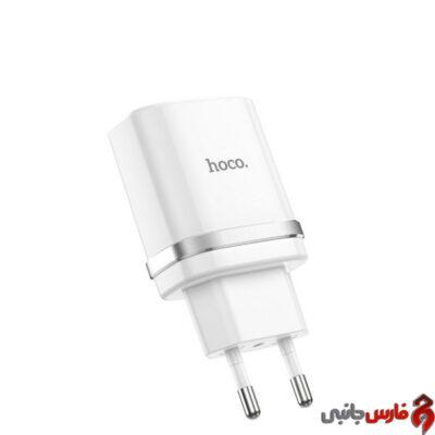 شارژر دیواری فست شارژ Hoco C12Q QC3.0 18W سفید