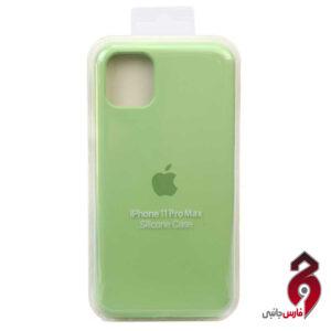 قاب سیلیکونی سبز روشن اپل iPhone 11 Pro Max