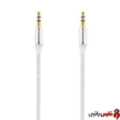 کابل Verity AUX 1m cb3117 سفید